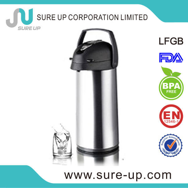 2014Hot sale glass liner water eco-Friendly vacuum water drinking air pots(AGUP)