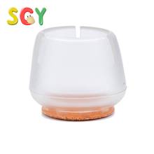 SCY CL001 Clear PVC Round Chair Leg Caps Furniture Table Feet Covers Floor Protector 4 Pieces