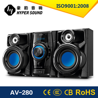 2015 new product mini speaker instruction with bluetooth &USB&pll FM radio DVD COMPO system