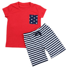 Summer design baby boutique carters clothing independent day fourth july wholesale children supple clothes for boys