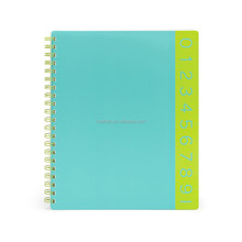 best price spiral leather notebooks with tabs
