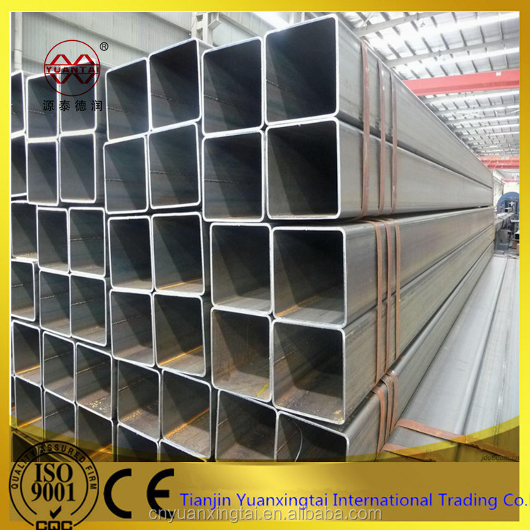 construct steel welding square/Rectangular steel pipe manufacture