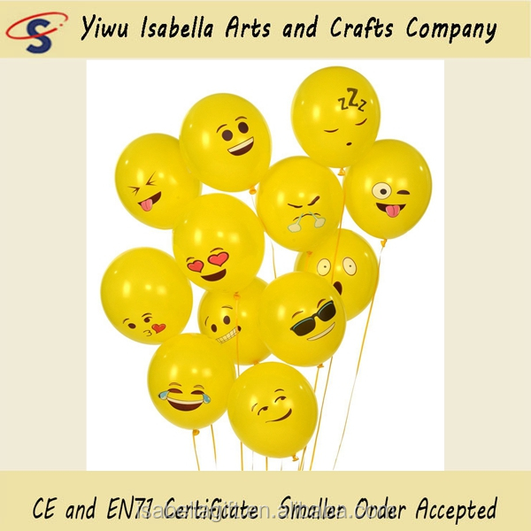 Yiwu Balloon Factory Experssion Smile Face Helium Mylar Latex Free Emoji Balloon For Party Decoration