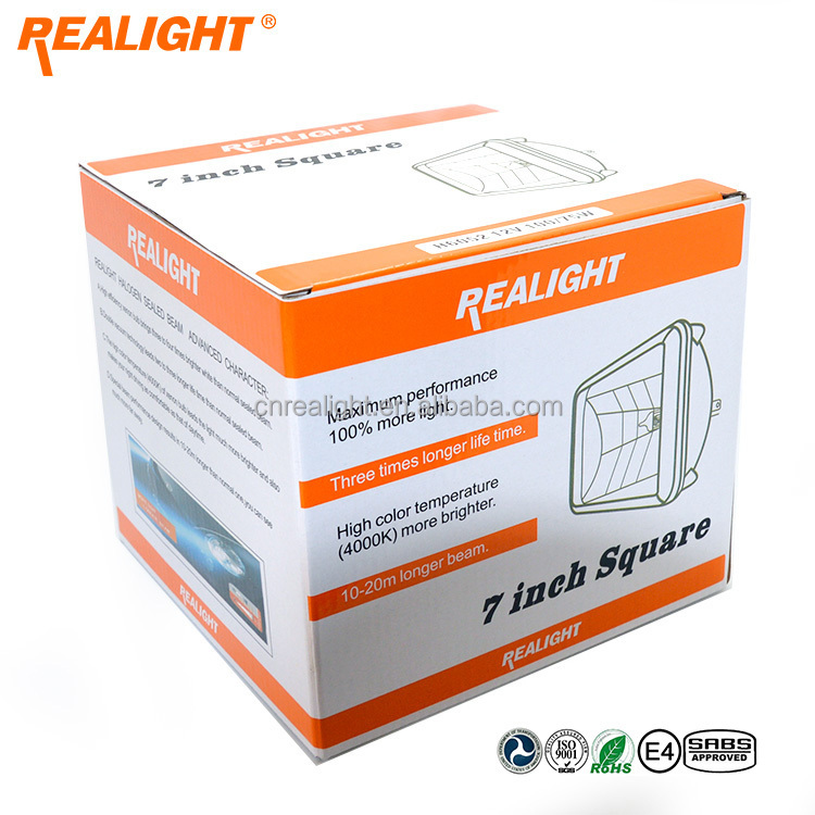 Realight Wagena Double Vacuum 7 Inch Square Halogen Sealed Beam H6052 H6002 H6054