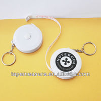 150cm/60inch funny round heavy duty keychain retractable tape measure promotional gift item with business logo