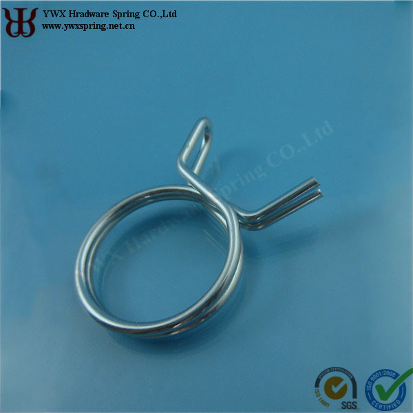 34mm zinc plated steel double rings hose clamp