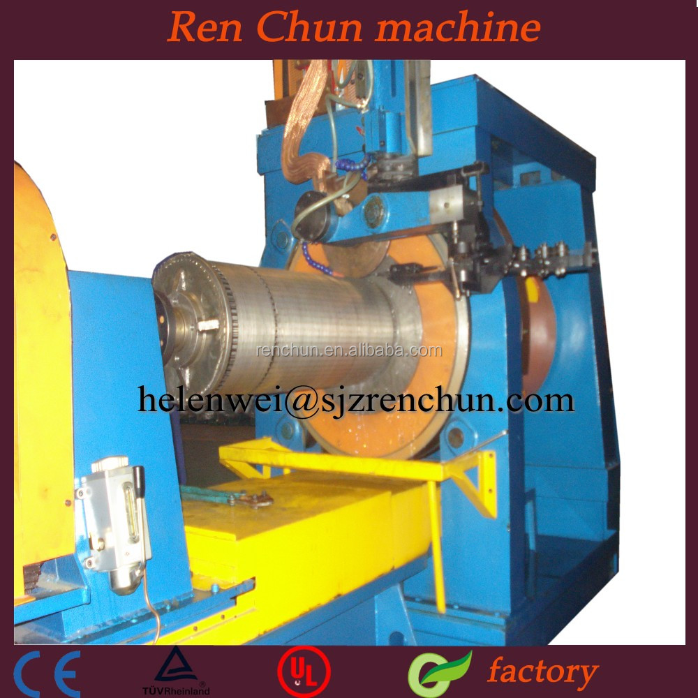 Oil filter tube wedge wire screen welding machine