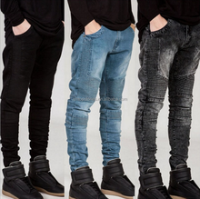 Hombres de calidad superior recta ripped <span class=keywords><strong>jeans</strong></span> denim vintage, los fabricantes en China