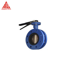 10 Inch Flange Connection Style Manual Operated Ductile Iron Butterfly Valve