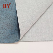 New design Polyester Fabric Laminated with PVC Material Synthetic Leather for Making sofa