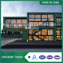 Glass container house