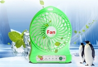 4-inch Vanes standing fan, 3 Speeds rechargeable fan hand fan for summer