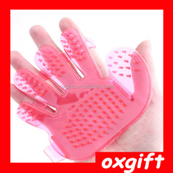 OXGIFT Wholesale explosion models crystal pet dogs a bath brush fingers massage shampoo brush