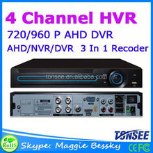 4CH Home Surveillance Recording 720P AHD DVR dvr h264 cms free software three in one HVR Cctv Camera dvr Price List