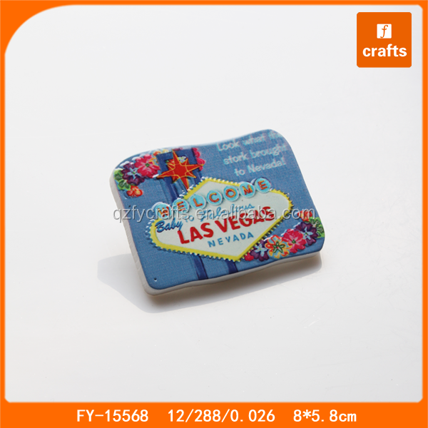 Custom resin fridge magnet las vegas souvenirs