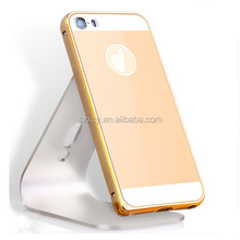 china supplier ultra thin Aluminum bumper Acylic back cover case for iphone 5 5s