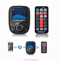 Bluetooth Car MP3 player transmitter 88.1~107.9MHz FM channels with flexible metal hose & play music from USB and micro SD