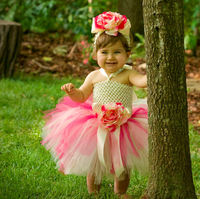 Korean style Baby girl tutu dress baby clothing sets NB-2T with headband