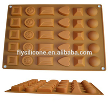 Custom Design Different shaped Chocolate silicone mold china manufacture