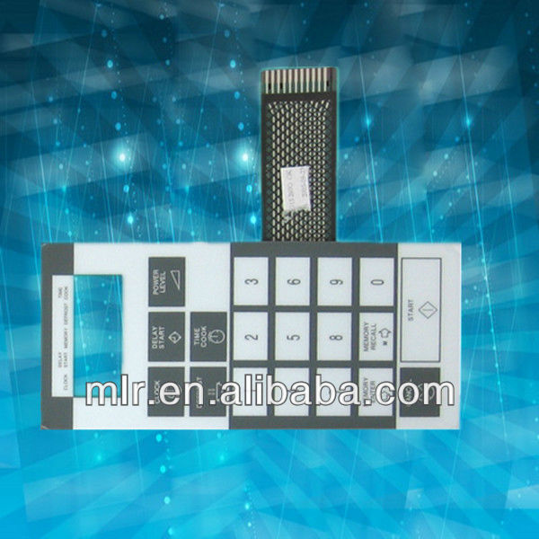 Membrane Switch with Polydome and Transparent Window