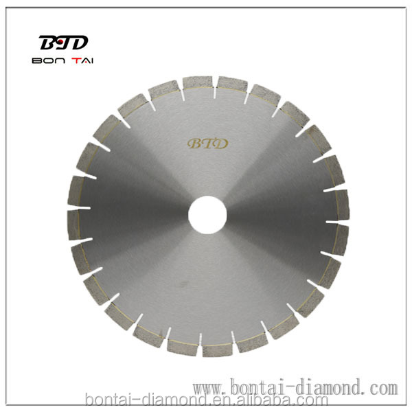V-shaped segment diamond saw blade for stone , marble and concrete