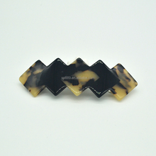 Lady's square acetate hair barrette goody tortoise hair clips decorative hair pins