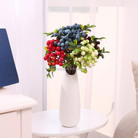 Blueberry and Berry Simulation Silk Plant Restaurant Table Decor Artificial Fruit