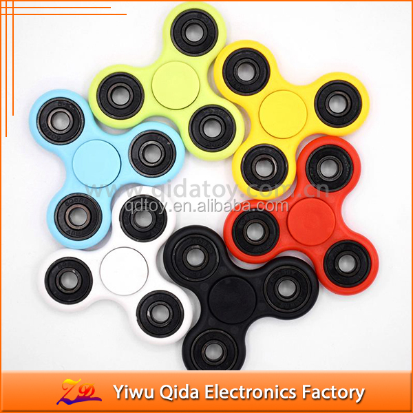 2017 anti stress cheap plastic ceramic finger fidget spinner spinning top toy