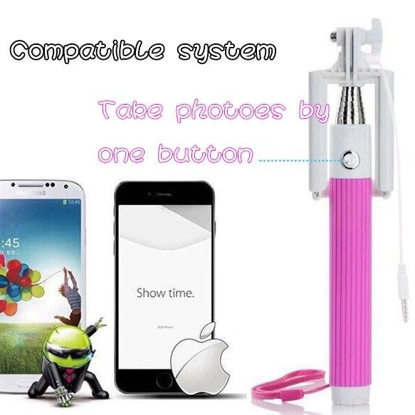 2016 NEW Folding Super Mini Wired Monopod Selfie Stick With Remote Folding Selfie Stick