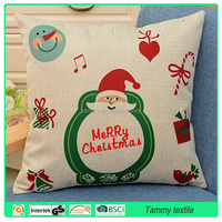 Christmas Day digital printing cat shaped cotton/line cushion pillow