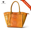 Yellow Bags Women Handbags PU Leather/Unique Ladies Handbag Manufacturers