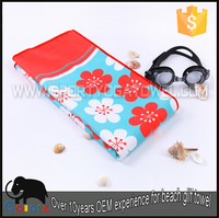 Easy to carry sublimation printing microfiber suede towel beach
