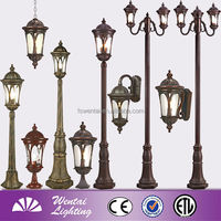 New Cheap high lumen solar post lights garden outdoor light