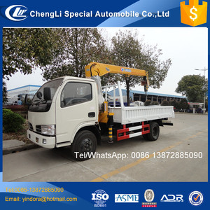 Cheap price dongfeng hydraulic arm 3ton light duty marine boom crane for sale