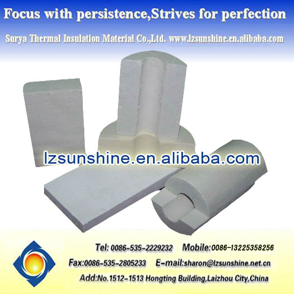 Fireproof Thermal insulation expanded perlite pipe cover