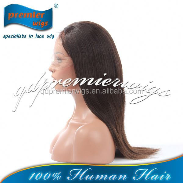 Sexy wig 100% Brazilian virgin Hair Glueless full lace wig for black women