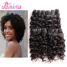 Curly Hair 4 Bundles Natural Omber Black 100% Unprocessed Human Remy Hair Short kinky Curly Weave Brazilian Virgin Hair bundles