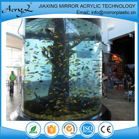 Round Acrylic Fish Tank for Restaurant