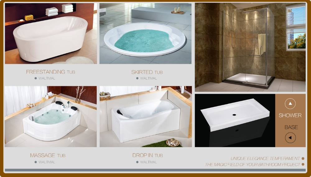 Freestanding Featheredge Bath tubs Acrylic For Luxury Simple Bathroom