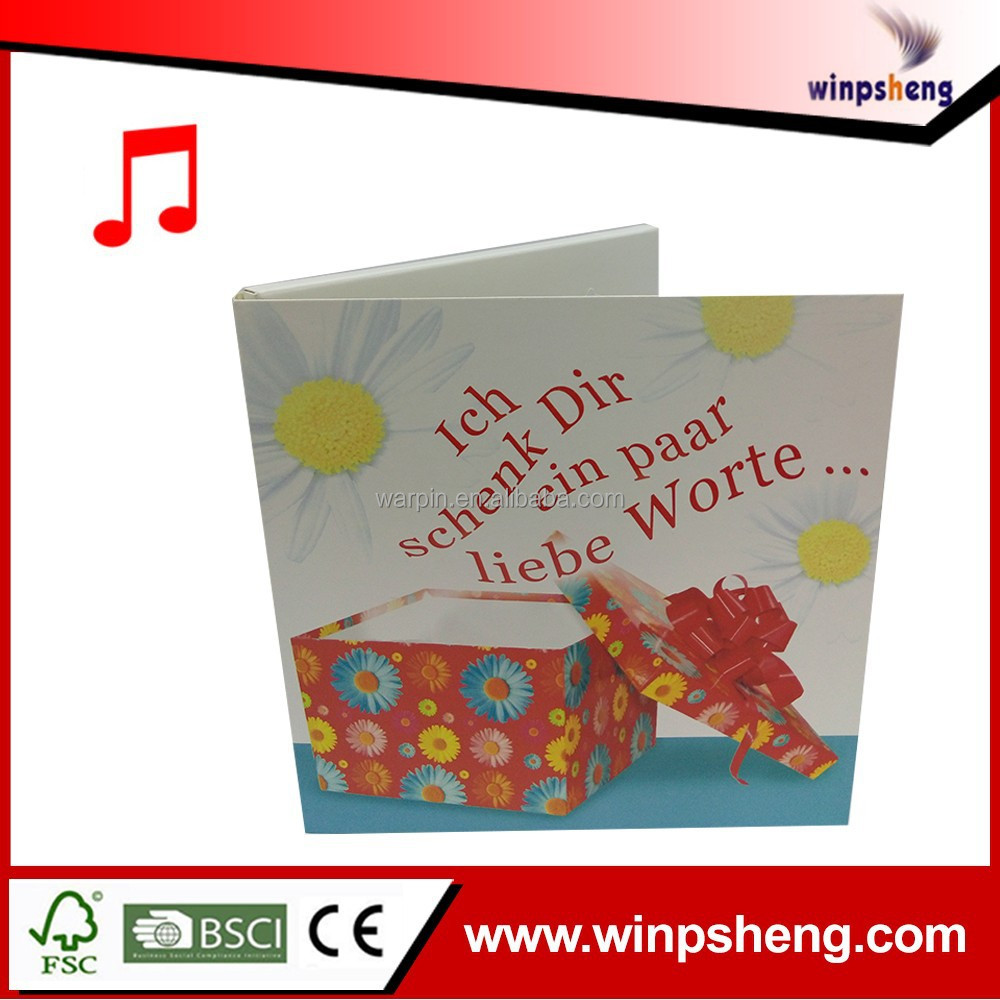 High-Level Voice Recording Greeting Cards/Birthday Music Greeting Card /Blanking Greeting Card