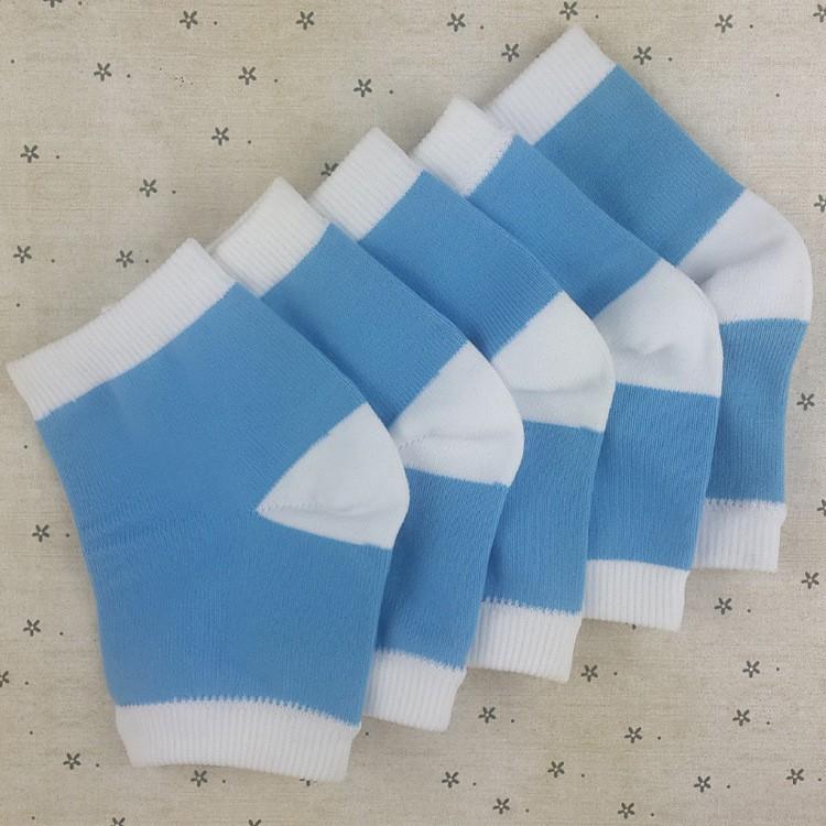 Blue massage socks