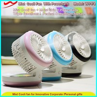 New Mist Fan / mini portable rechargeable types of air blower with power bank