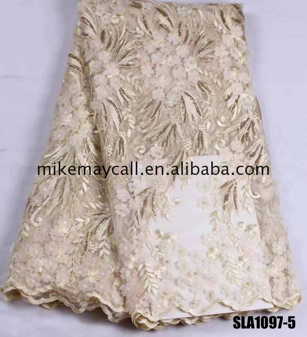 indian beaded fabrics flower french lace fabric wholesale