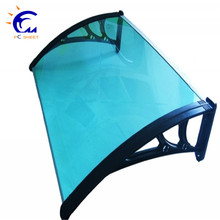 Front door canopy porch rain protector awning lean to roof shelter Shade, Frameless glass canopy with stainless steel hardwares