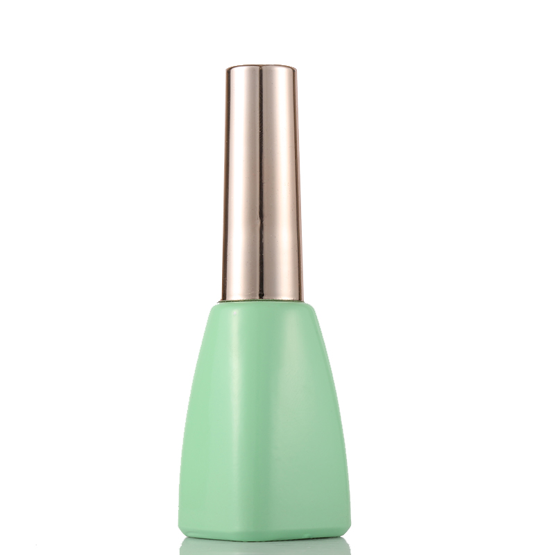 natural green color 10ml Glass empty uv gel nail polish bottle