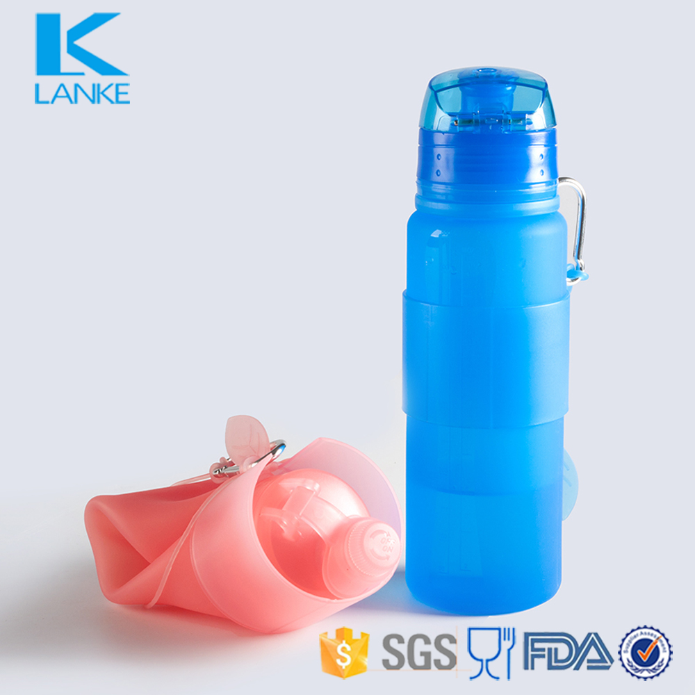Foldable BPA Free Silicone Sport Water Bottle