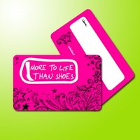 member card for shoes