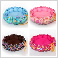 dog accessories round shape dog beds washable fabric for dog bed pet bed