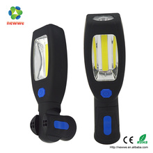 3w COB plastic magnetic rotary handle hook led work light rechargeable 12w led machine work light