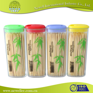 competitive price birch single dental floss toothpicks with customized logo